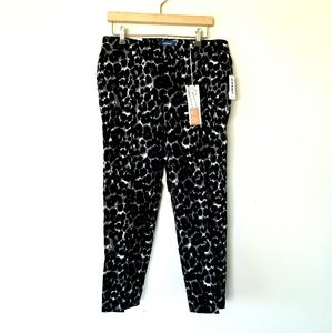 Leopard Print Cropped Pants NWT